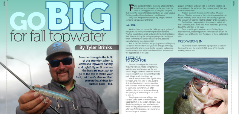 Go Big for Fall Topwaters